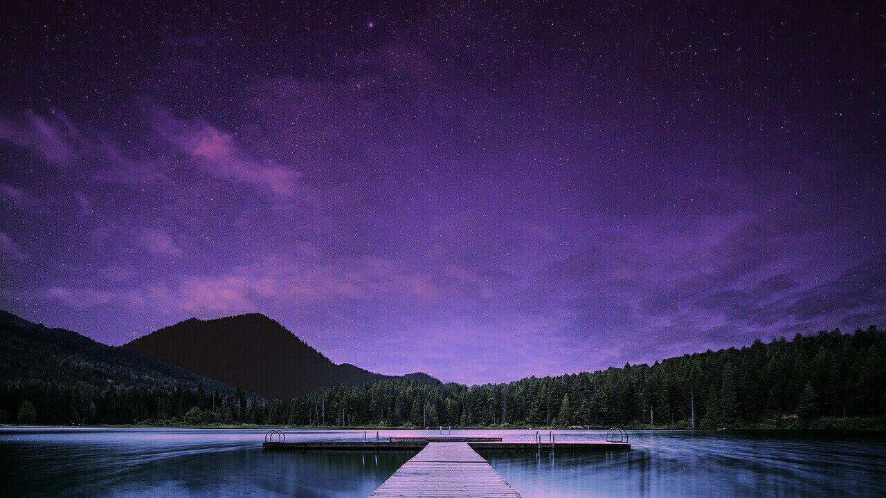 night scene, landscape, starry night, lightX App