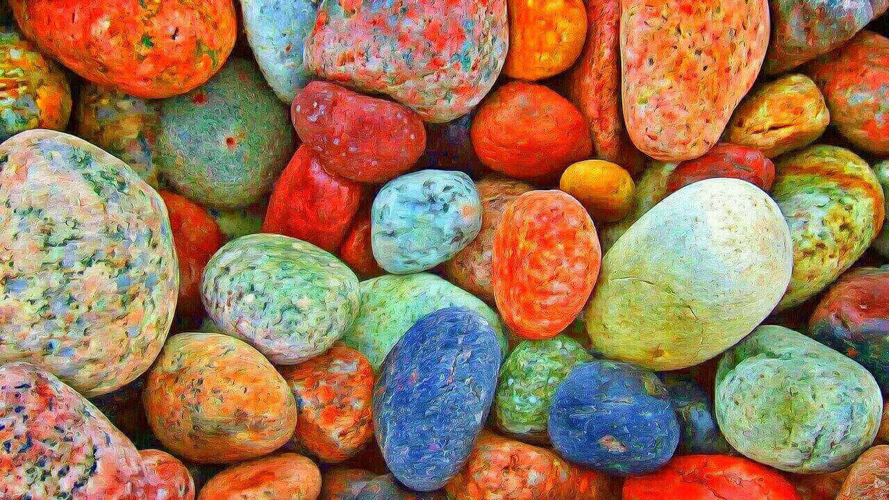colorful, stones, colorful picture, saturation picture