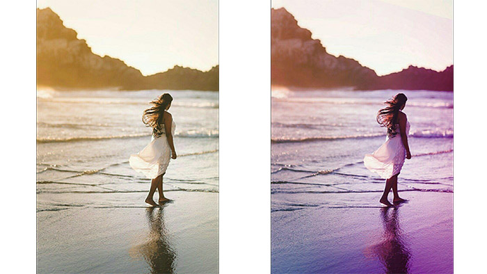 beach photo, girl photo, photo filters for mobile