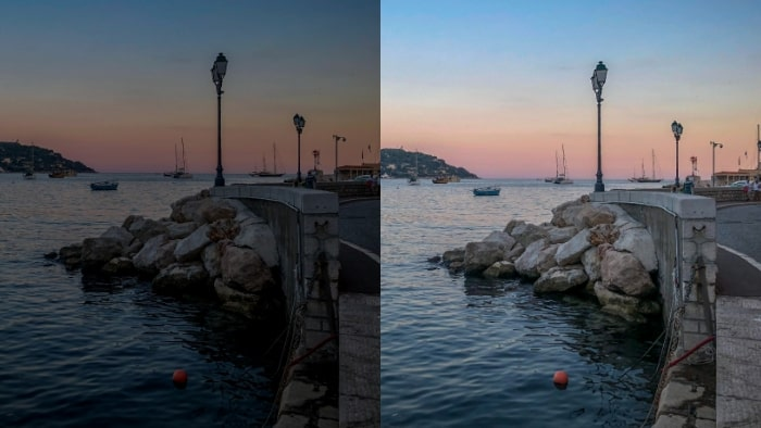 brighten dark photos, fix dark photos, fix underexposed photos, lighten dark pictures, lighten dark photos, how to lighten dark photos, outdoor photography, sea side view, sea view, beach view, night photography