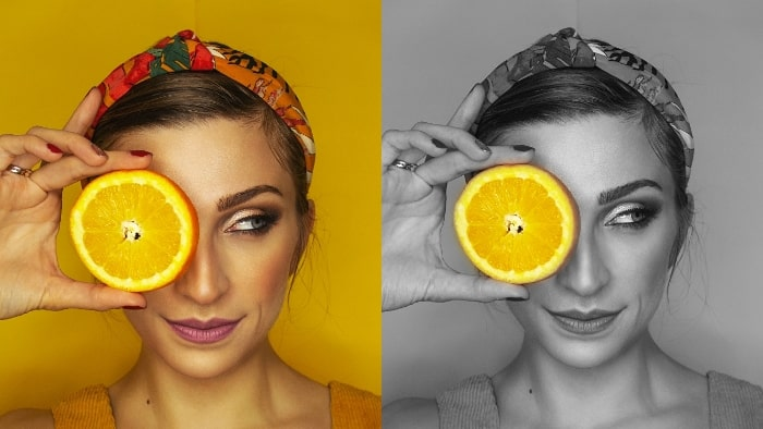 color pop effect, color pop effect app, color pop, color pop app, girl, girl with fruit, girl portrait