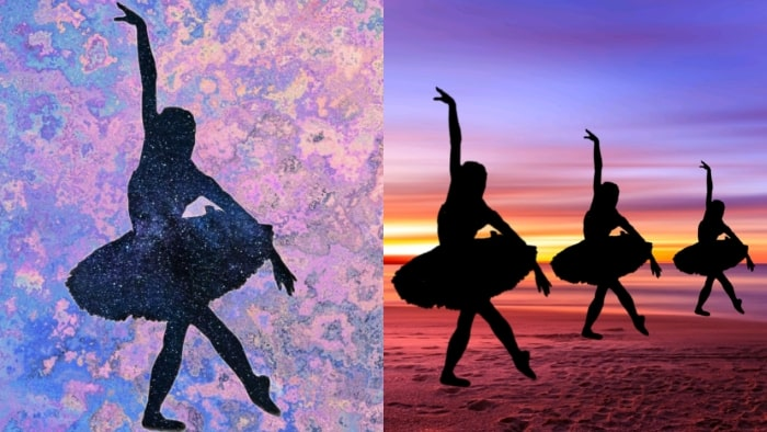 dancer girl, girl dancing, silhouette image maker app, LightX app, convert photo to silhouette