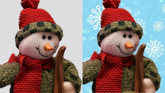 christmas, snow man, mobile photo editor