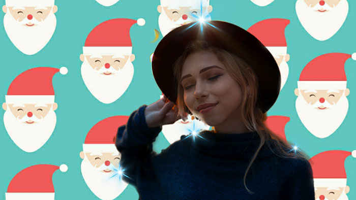 how to edit Christmas photos, Christmas stickers, Christmas backdrops,
