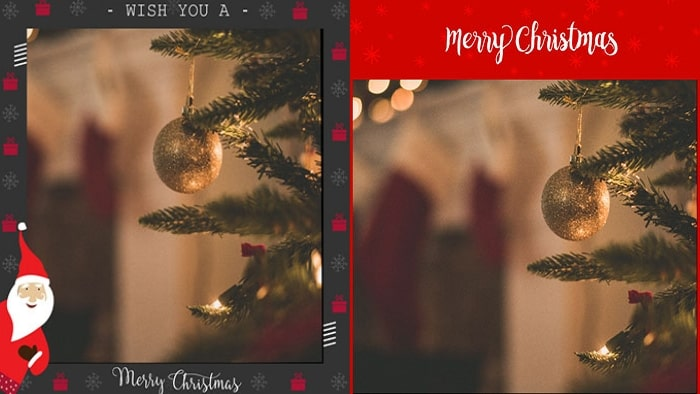 free Christmas photo frames, LightX photo editing app, Christmas lights, santa claus
