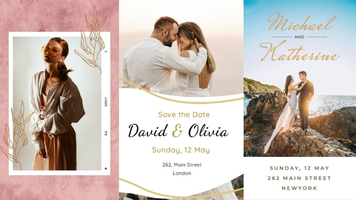 wedding invitation template, event template, event invitation template, Instagram story template
